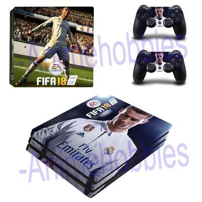 PS4 Pro Console Skin Set Decals Fifa 18 Football Vinyl Decal Cover Wrap Stickers