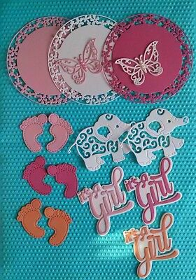 15 x Stanzteile cartes aufleger scrapbooking les Cuts cards Piecing Handcrafted