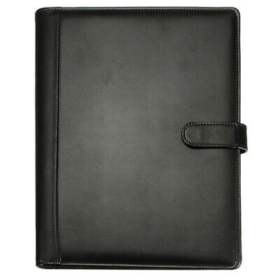 Black A4 Executive Conference Folder Portfolio PU Leather Document Organiser PK
