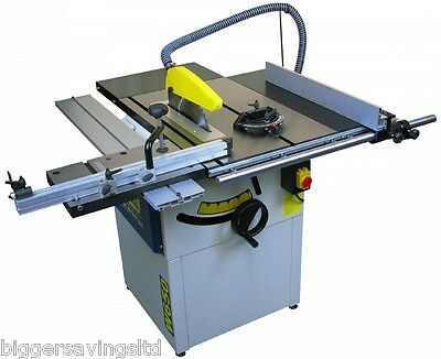 "Charnwood W650 Professional 10"" Cast Iron Sawbench Table Saw 240V"