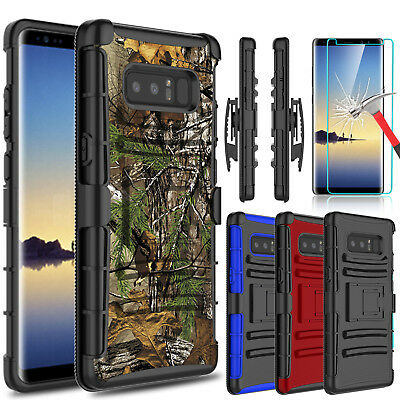 For Samsung Galaxy Note 8 Shockproof Case Kickstand Clip With Screen Protector