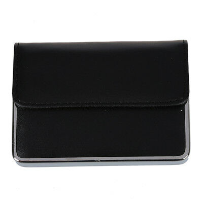 Pro Stainless steel PU Leather Business Name ID Cit Card Holder Case Pocket PK