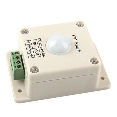 DC 12V~24V 8A Automatic LED PIR Motion Sensor Switch Light Lighting PF