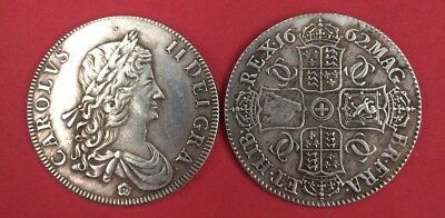 Great Britain - Crown 1662, Charles II of England - silvered