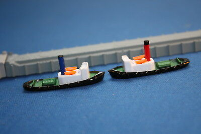 Two Tugs  Red and Blue Funnels  Triang Minic modern