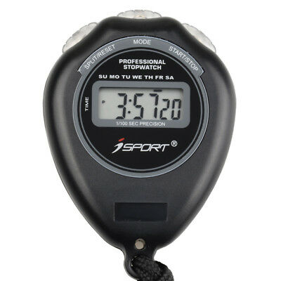 Digital Professional Stopwatch Handheld Chronograph One Row Sport Counter Timer