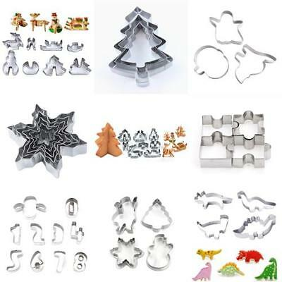 Christmas Set Metal Cookie Biscuit Cutters Tree Snowflake Baking Mold Cake Decor