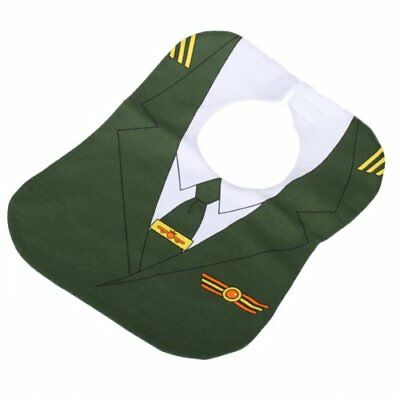 Waterproof environment friendly bib with Motif of aircraft commander - Green PK