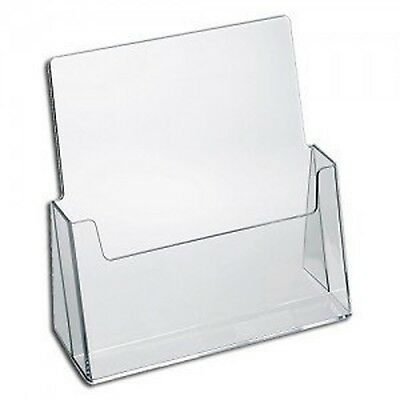 "Convenient Holder for 8.5"" x 11"" w/  Booklet Clear Acrylic Countertops Organizer"