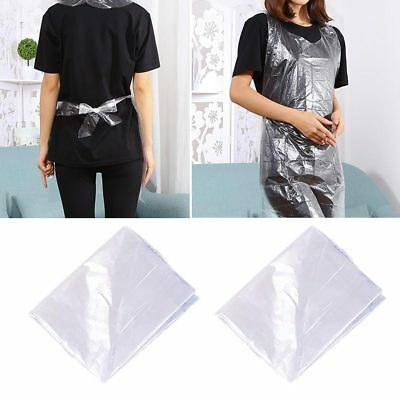 25pcs Disposable Plastic Aprons Polythene Aprons Eco Flat Pack White Waterproof