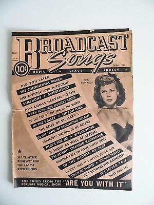 Broadcast Songs April 1946