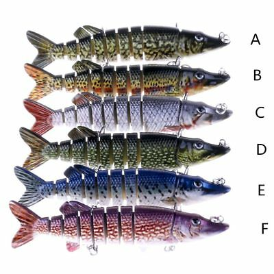 12.7cm Sport Multi-section Jointed Fishing Lure Bait Swimbait Bionic Hook Tackle