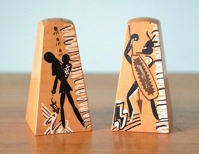 Vintage mid century Aboriginal salt and pepper shakers CLT1