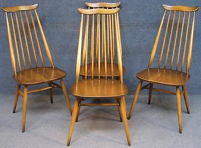 Set Of 4 Ercol Goldsmith Windsor 369 Elm & Beech Kitchen / Dining Chairs. Set 2