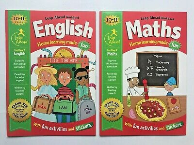 New, LeapAhead English & Maths 2 Workbooks For Children/Kids Age 10-11 Year, KS2