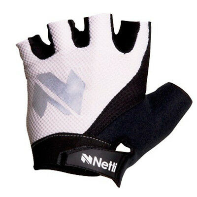 Netti Skill Fingerless Bike Gloves Black/White