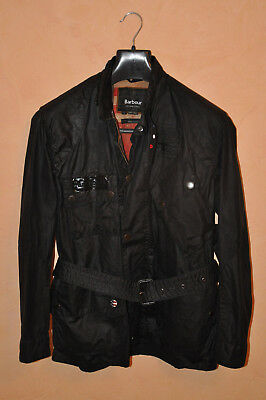 BARBOUR INTERNATIONAL STEVE McQUEEN MEN'S DARK VIN WAX JACKET SIZE L LARGE MINT