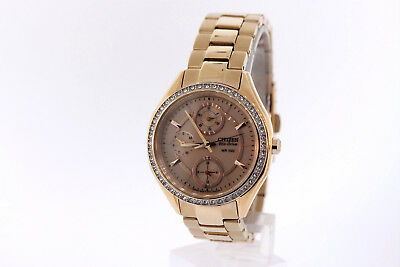 Ladies Citizen FD1063-57X POV Eco-Drive Rose Gold-Tone Stainless Swarovski Watch