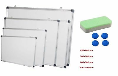 Magnetic Whiteboard Notice Memo/Board for Office Meeting School Home in 4 Sizes