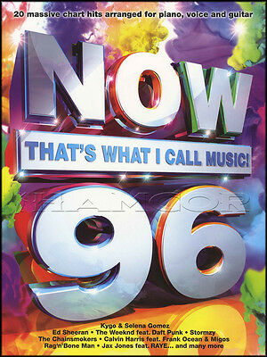 Now That's What I Call Music 96 Piano Vocal Guitar Sheet Music Book Ed Sheeran
