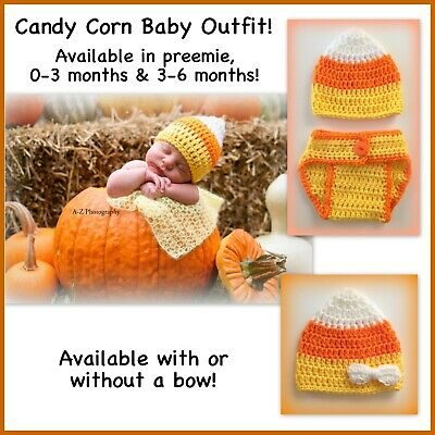 Candy corn outfit, Halloween baby, preemie, 0-3 months, 3-6 months baby