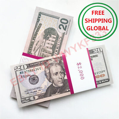 PROP MONEY $20x100pcs US Dollar fake Movie Money SHOOTING MOTION PICTURE MONEY