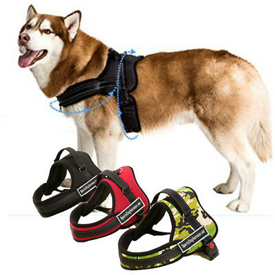 Large Dog Harness Leash Collar Vest For Husky Labrador Bulldog Golden Retriever