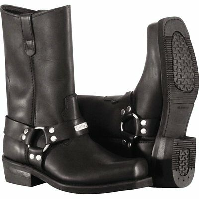 River Road Square Toe Harness Boots Motorcycle Boots
