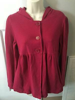 Old Navy Maternity Pink Hooded Long Sleeve Cardigan EUC Size Small S