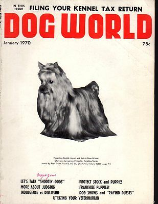 Dog World Magazine January 1970, Yorkshire Terrier Cover, Dog History