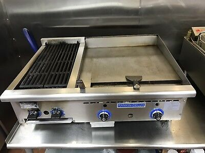 rankin-delux custom gas grill combination char grill and flat top combo