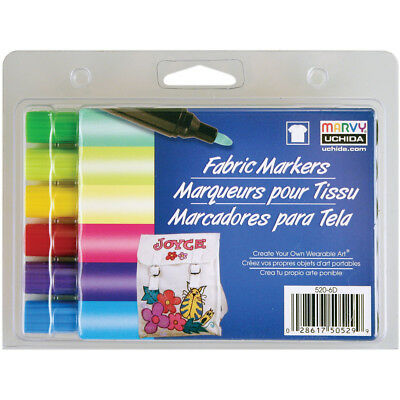 Fabric Markers Broad Tip 6/Pkg-Brilliant