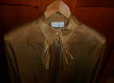 1980s VINTAGE ANTHEA CRAWFORD BLOUSE SIZE 12  EXCELLENT CONDITION