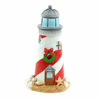 Miniature Dollhouse Fairy Garden Christmas Beach Lighthouse ~ Mermaid Decor