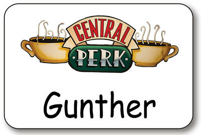 Gunther Central Perk On Friends Name Badge Prop Halloween Costume Magnetic Back
