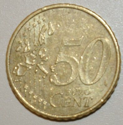 Germany 50 Cent Euro Coin 2002 Beautiful Condition Brandenburg Gate