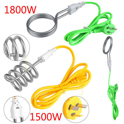 220V 1.5/1.8kw Electric Immersion Heater Boiler Water Heating Element For Travel