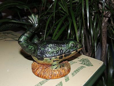 Vintage Frog Container Dish Trinket Box