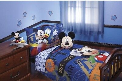 New Disney® Mickey Mouse Clubhouse 4 Piece Toddler Bed Set
