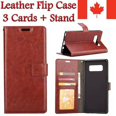 For Samsung Galaxy Case - Luxury Leather Credit Wallet Card Stand Cover