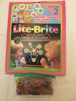 Lite Brite Vintage Picture Refills - My Favorite Things - 100+ Replacement Pegs