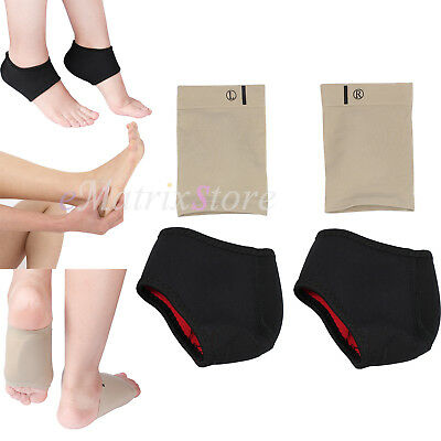 2PCS Arch Support Cushion Sleeve For Gel Orthotic Insole Plantar Fasciitis Foot