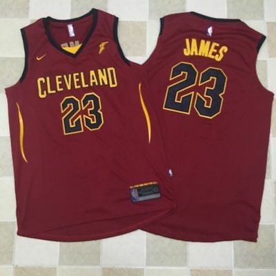 New Season Cleveland Cavaliers #23 LeBron James Basketball Jersey Red S-XXL