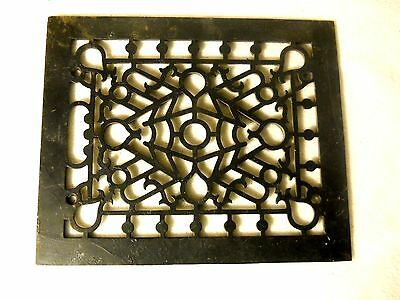 "Vintage Cast Iron Floor Grate-Decorative-8 by 10""-Great Garden Art"