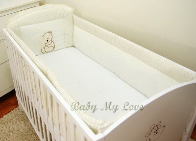 BABY Nursery ALL ROUND COT BUMPER only  to fit Cot or Cot Bed - 420 or 360 cm