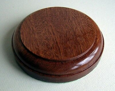 Circular Plinths for Models, Trophies, Figurines, SOLID  MAHOGANY 5 sizes (OV)