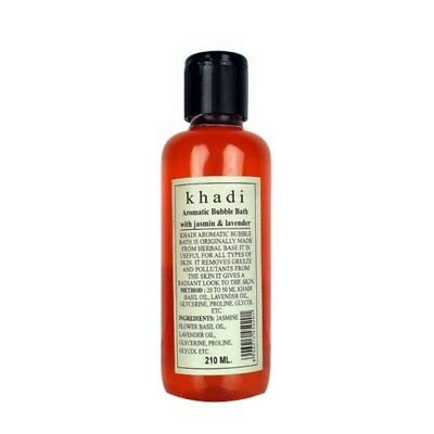 Khadi Natural (Jasmin & Lavender) Herbal Aromatic Bubble Bath 210ml