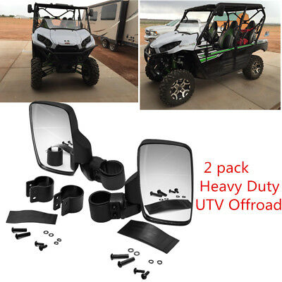 Side View Mirror Set for UTV/ATV Offroad High Impact Break-Away Large Wide View