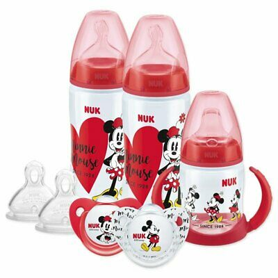 Nuk Disney Baby Minnie Bottle, Soother & Cup Set 6-18m(Design or Color May Vary)