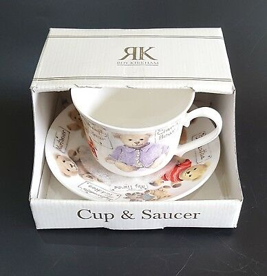 Roy Kirkham Fine Bone China Large Breakfast Cup & Saucer Various Teddy Bears
